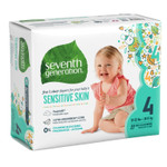 Seventh Generation Free & Clear Baby Diapers - Size Four 27 count | 732913440634