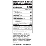 Chike Nutrition High Protein Peanut Butter Iced Coffee -Box ( 12 x 32g packets) | 185689000494 | Nutrition Facts- Packet