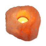 Relaxus Himalayan Salt Tealight Holder Amber | L0150 | 628949101505