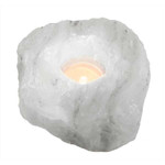 Relaxus Himalayan Salt Tealight Holder - White | 504016 | 628949140160