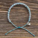 4Ocean Porpoises / Dolphins Light Blue and White Bracelet | 854600008160