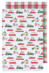 Now Designs Holiday Cars Dishtowels Set of 2 | 064180246443