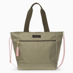 Logan and Lenora Daytripper Tote Olive with Blush
