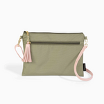 Logan and Lenora Convertible Clutch with Crossbody Strap Olive