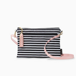 Logan and Lenora Convertible Clutch with Crossbody Strap Audrey Stripe