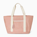 Logan and Lenora Beach Tote Rose with Blush Tassel