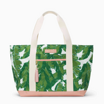 Logan and Lenora Beach Tote Palmtastic with Blush Tassel