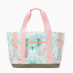 Logan and Lenora Beach Tote Painterly with Blush Tassel