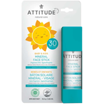 Attitude Baby & Kids Mineral Sunscreen Face Stick Fragrance Free SPF 30 18.4 g |  626232160086