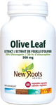 New Roots Herbal Olive Leaf Extract 20% Oleuropein 500mg 60 Veg Capsules | 628747108454
