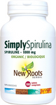 New Roots Herbal Simply Spirulina Organic 1000mg 180 Tablets | 628747116572
