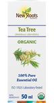 New Roots Herbal 100% Pure Essential Oil Organic Tea Tree  50mL   628747221160
