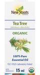 New Roots Herbal 100% Pure Essential Oil Organic Tea Tree  15mL   628747221177