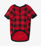 Little Blue House by Hatley Dog Pajama Moose on Plaid - front