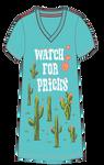 Little Blue House by Hatley Women's Sleepshirt One Size - Watch for Pricks