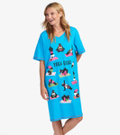 Little Blue House by Hatley Women's Sleepshirt One Size - Yoga Bear