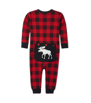 Little Blue House by Hatley Baby Union Suit Moose on Plaid
