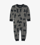 Little Blue House by Hatley Baby Union Suit Charcoal Bears