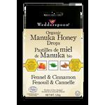 Wedderspoon Organic Manuka Honey Drops 120g Fennel & Cinnamon | 814422022515