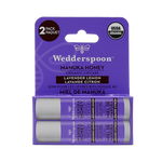 Wedderspoon Organic Manuka Lip Balm 4.5g Lavender Lemon  2 Pack | 814422023598
