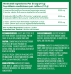 Kaha Vegan Fermented BCAA's 300g Nutritional Facts