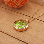 Matrix Aromatherapy AromaLocket Aromatherapy Necklace - Tree of Life (Rose Gold)