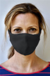 Brave Face Skeena Organic Reusable Face Mask for Adults - Black | 705333599206
