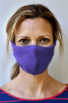 Brave Face Skeena Organic Reusable Face Mask for Adults -  True Purple | 705333599237