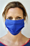 Brave Face Fraser Organic Reusable Face Mask for Adults - Deep Sky Blue | 705333599374