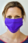 Brave Face Fraser Organic Reusable Face Mask for Adults - True Purple | 705333599350
