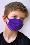 Brave Face Fraser Organic Reusable Face Mask for Kids - True Purple | 705333599473