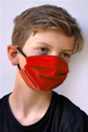 Brave Face Fraser Organic Reusable Face Mask for Kids - Canada Red   705333599510