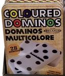 Relaxus Coloured Double Six Dominos | Box Image | 30628949151242