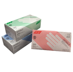 Chartwell Blue Nitrile Powder Free Disposable Gloves | UPC 771295811427, 771295811434, 771295811441