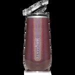 BrüMate Champagne Flute 12oz - Glitter Merlot   748613301649