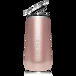 BrüMate Champagne Flute 12oz - Glitter Rose Gold   748613301656