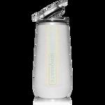 BrüMate Champagne Flute 12oz - Glitter White   748613301595