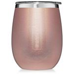 BrüMate Uncork'D XL Wine Tumbler 14oz - Glitter Rose Gold | 748613307351