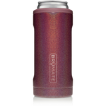 BrüMate Hopsulator Slim 12oz Slim Can - Glitter Merlot   748613303735