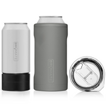 BrüMate Hopsulator TRíO 3-in-1 (12oz/16oz Can) - Matte Gray | 748613301113