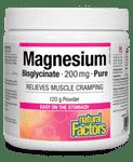 Natural Factors Magnesium Bisglycinate Pure 200mg 120g Powder | 068958016429