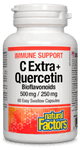 Natural Factors Immune Support C Extra + Quercetin Bioflavonoids (500mg/250mg) 60 Easy Swallow Capsules | 068958013985