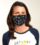 Little Blue House by Hatley Non-Medical Reusable Adult Face Mask - Music Notes