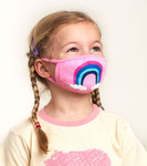 Little Blue House by Hatley Non-Medical Reusable Kids Face Mask - Rainbow