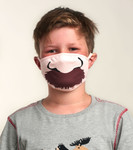 Little Blue House by Hatley Non-Medical Reusable Kids Face Mask - Moustache