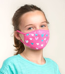 Little Blue House by Hatley Non-Medical Reusable Kids Face Mask - Hearts