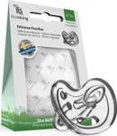EcoViking Silicone Pacifier - Orthodontic 0+ Months, Transparent   7340151700521