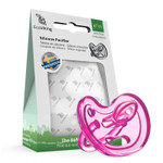 EcoViking Silicone Pacifier - Orthodontic 0+ Months, Pink | 7340151700569
