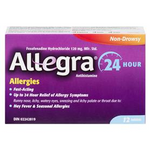 Allegra Allergies Non-Drowsy 24HR 120mg - 12 Tablets   065914104398