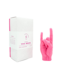 CandleHand You Rock Hand Gesture Candle - Pink   4779040570854
